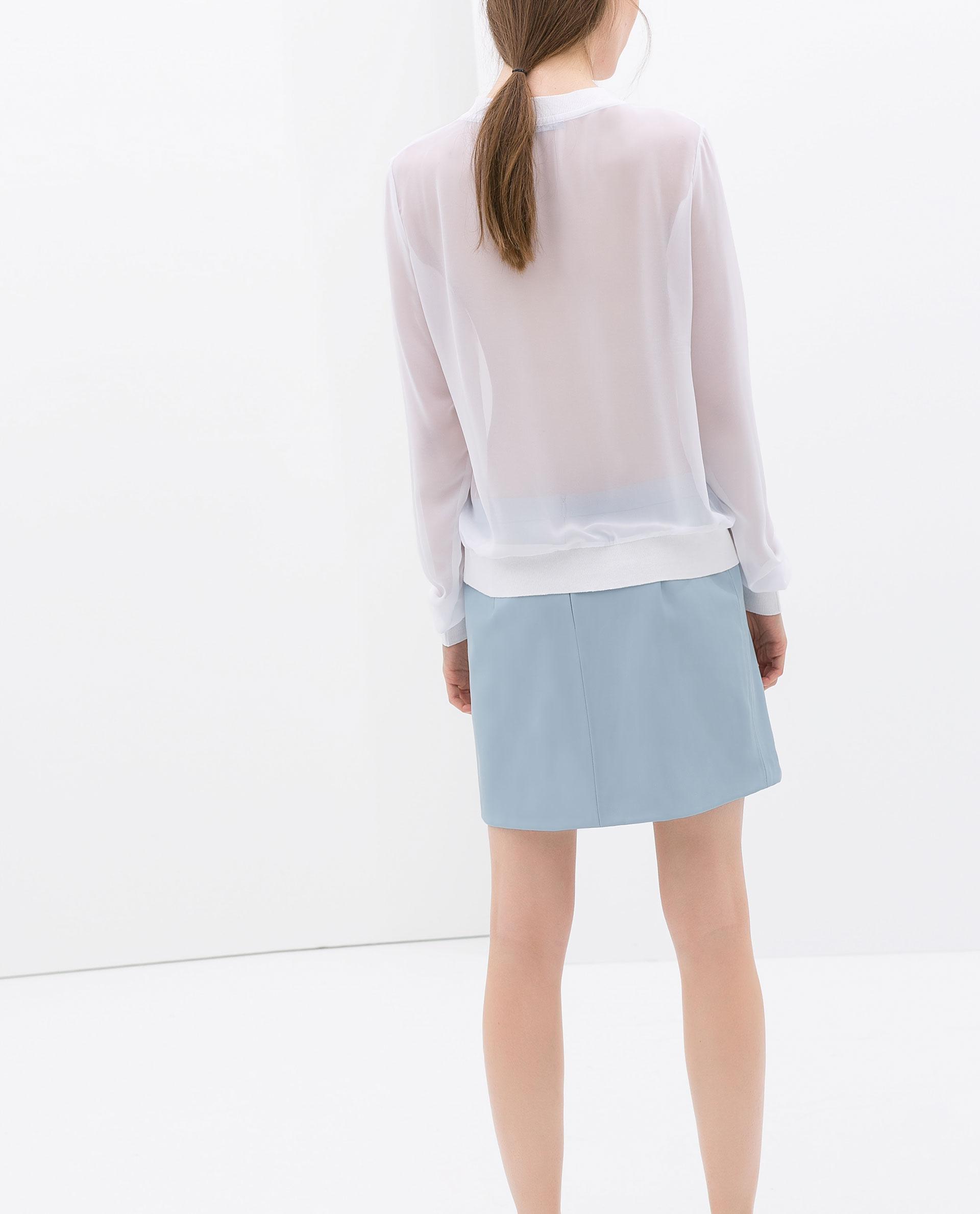 Zara Blouse With Transparent Details 111
