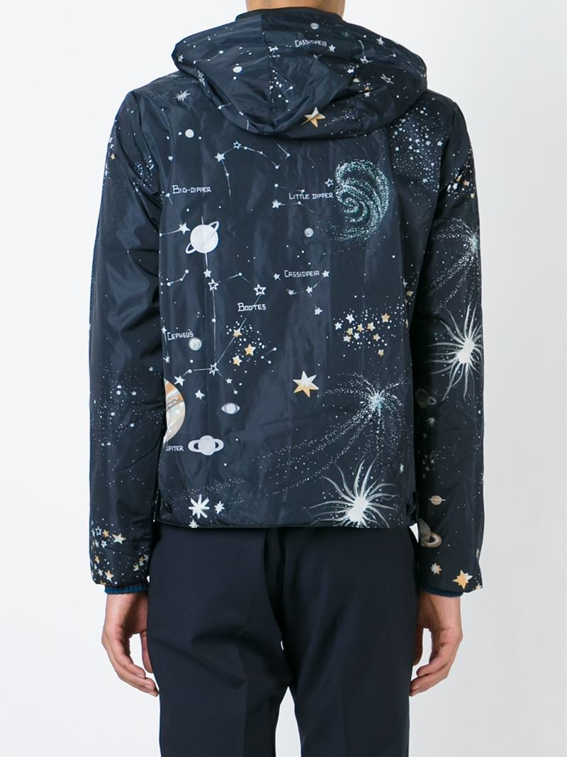 Valentino Cosmo Jacket In Blue For Men Lyst