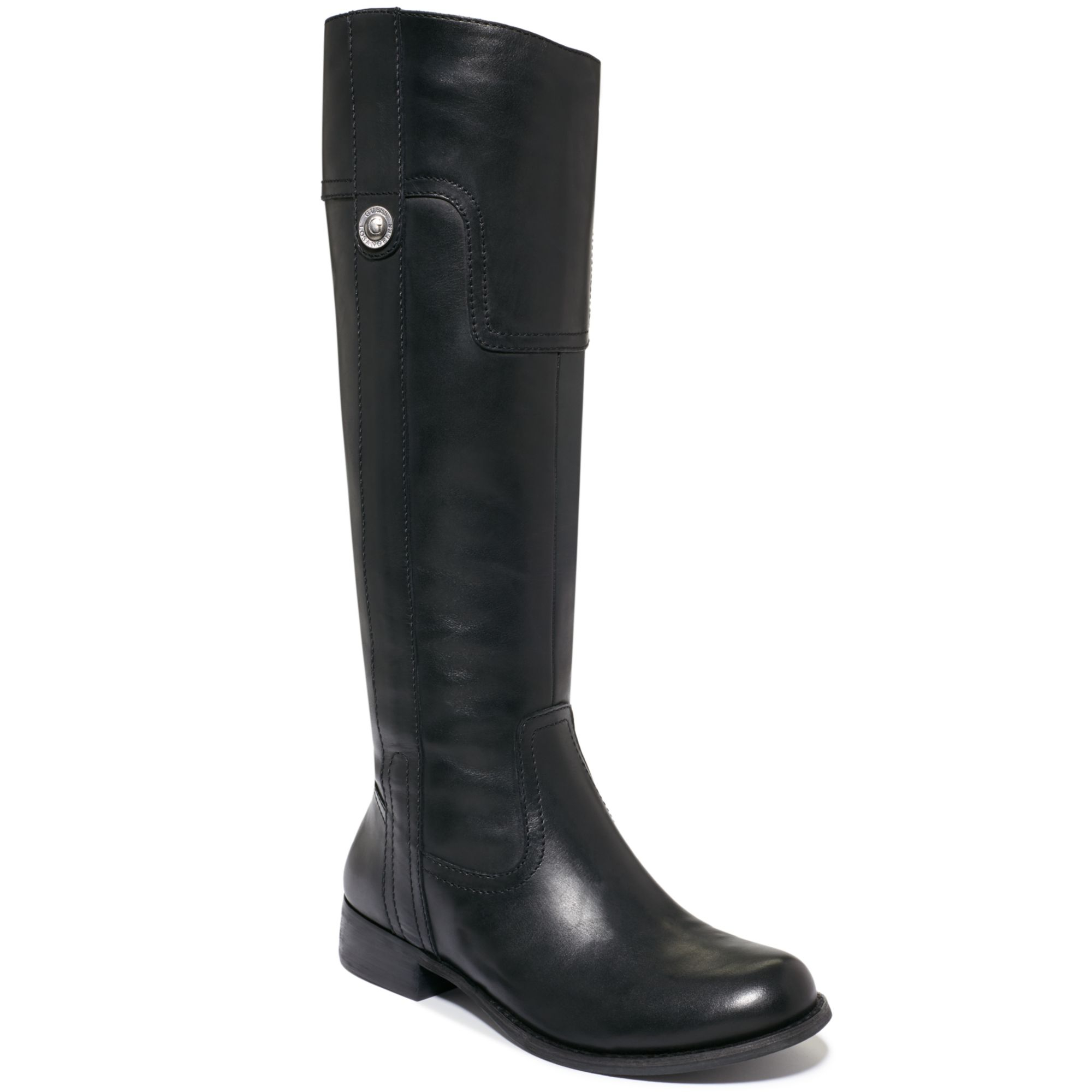 guess marshay shaft boot in black lyst
