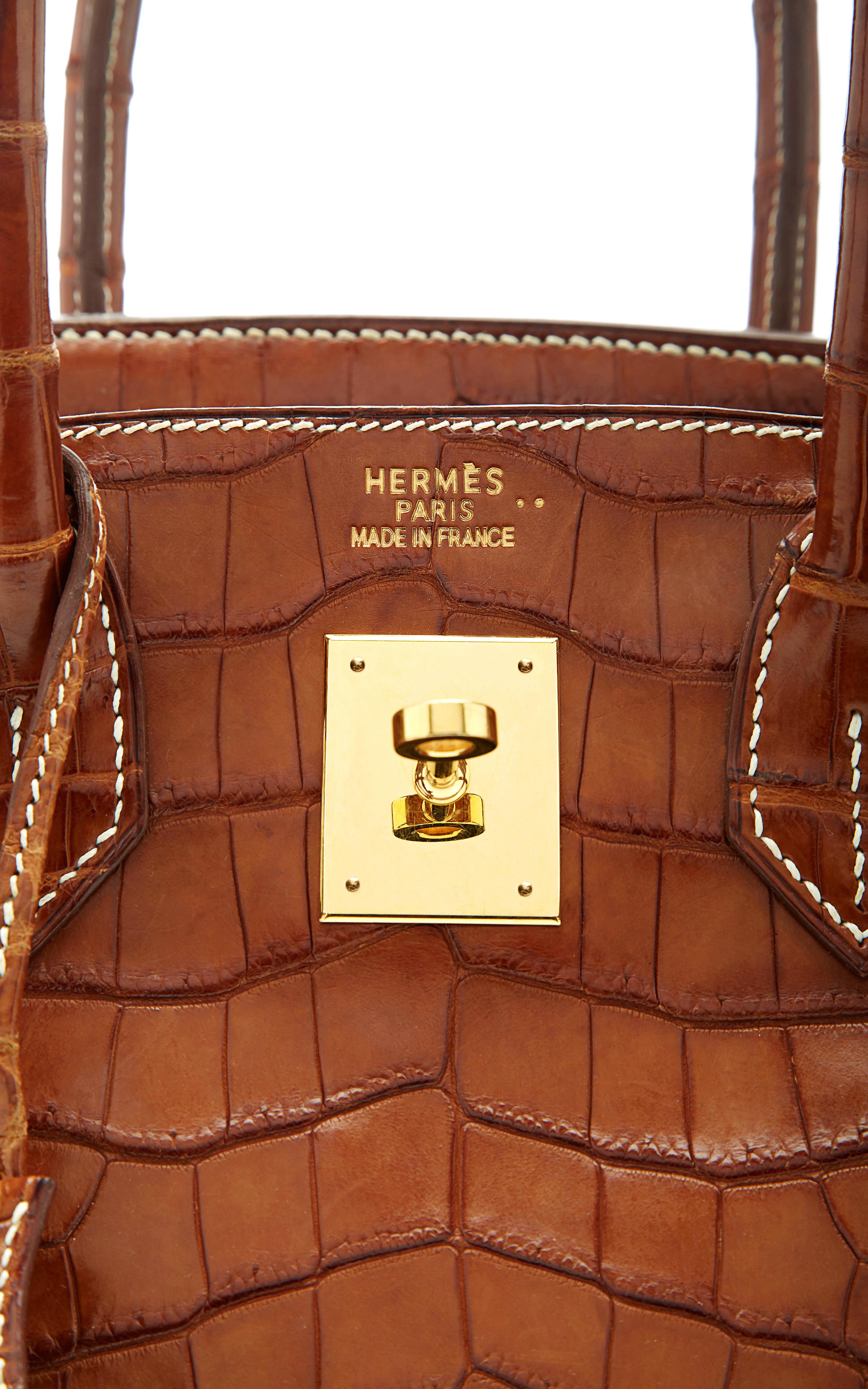 Heritage auctions special collection 30cm Hermes Fauve Matte Nilo ...