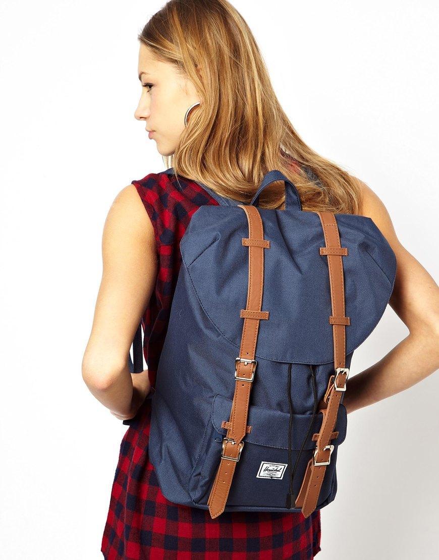 81726e79b2 Lyst - Herschel Supply Co. Little America Backpack in Navy in Blue