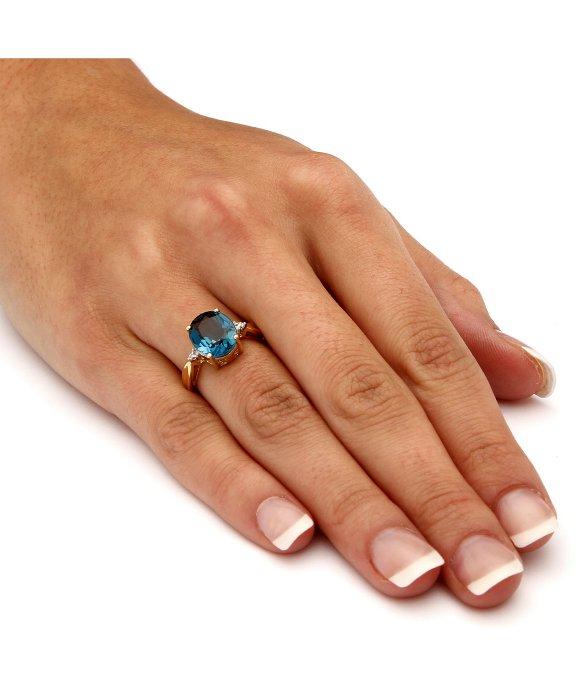 Lyst Palmbeach Jewelry 450 Tcw Genuine London Blue Topaz