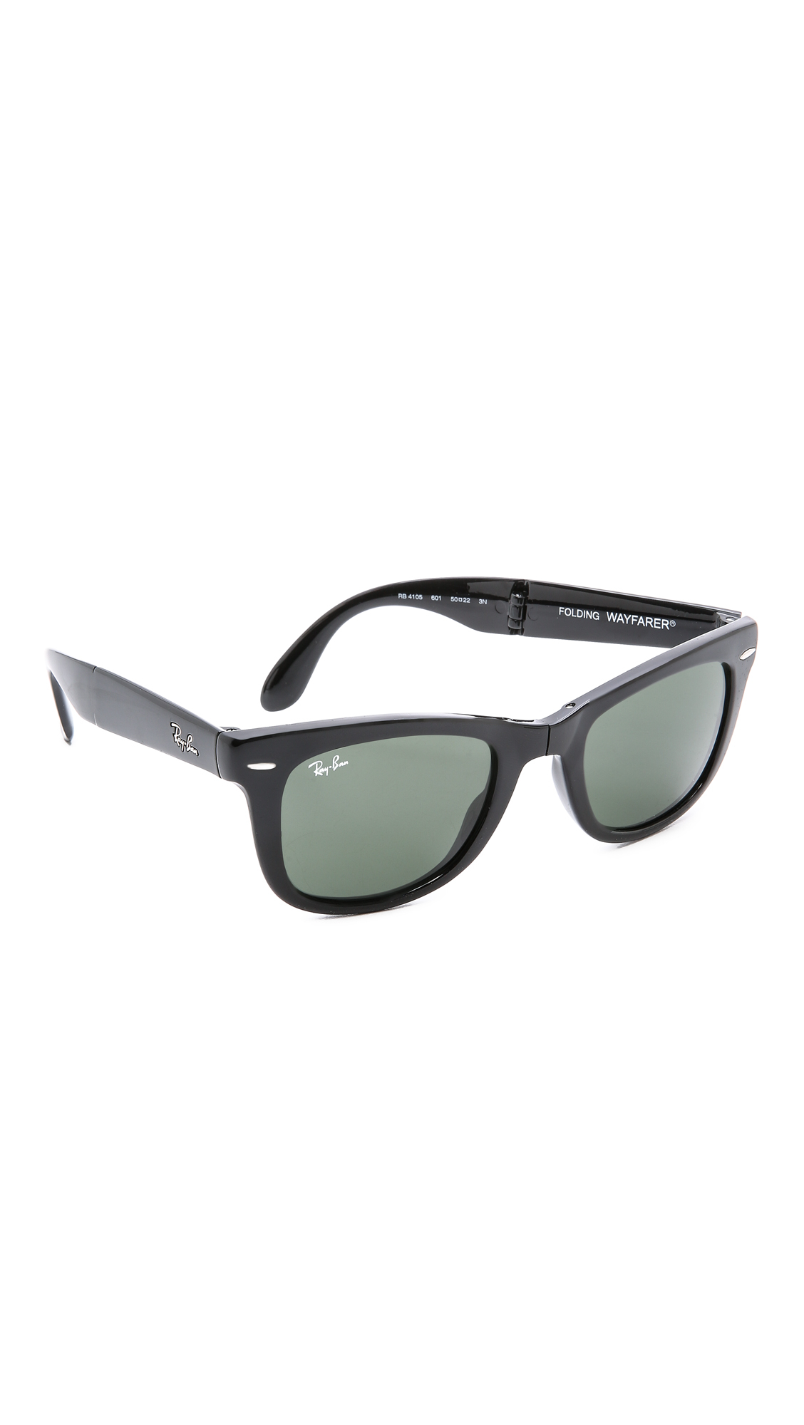 Ray ban folding wayfarer sunglasses in black lyst for Wayfare berlin