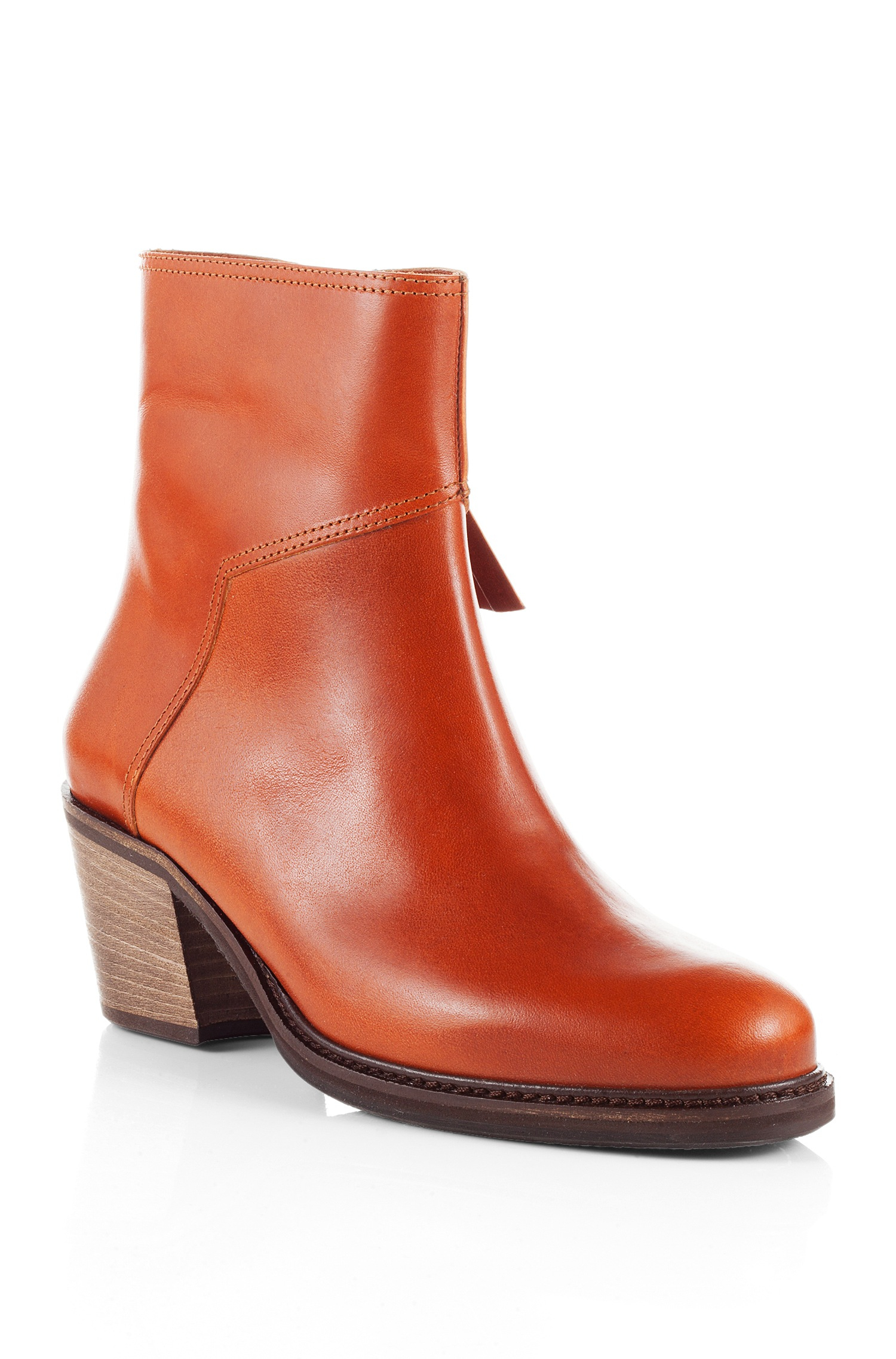 Lyst Boss Orange Ankle Boots Ileen In Smooth Leather