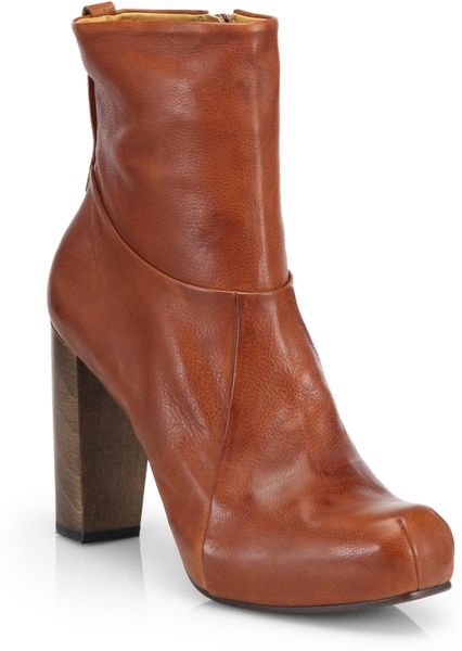 coclico lula leather ankle boots in brown cognac lyst. Black Bedroom Furniture Sets. Home Design Ideas