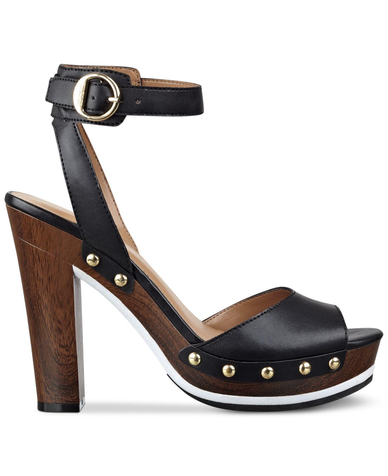 8af3e9ed39c Lyst - Tommy Hilfiger Wendel Platform Dress Sandals in Black