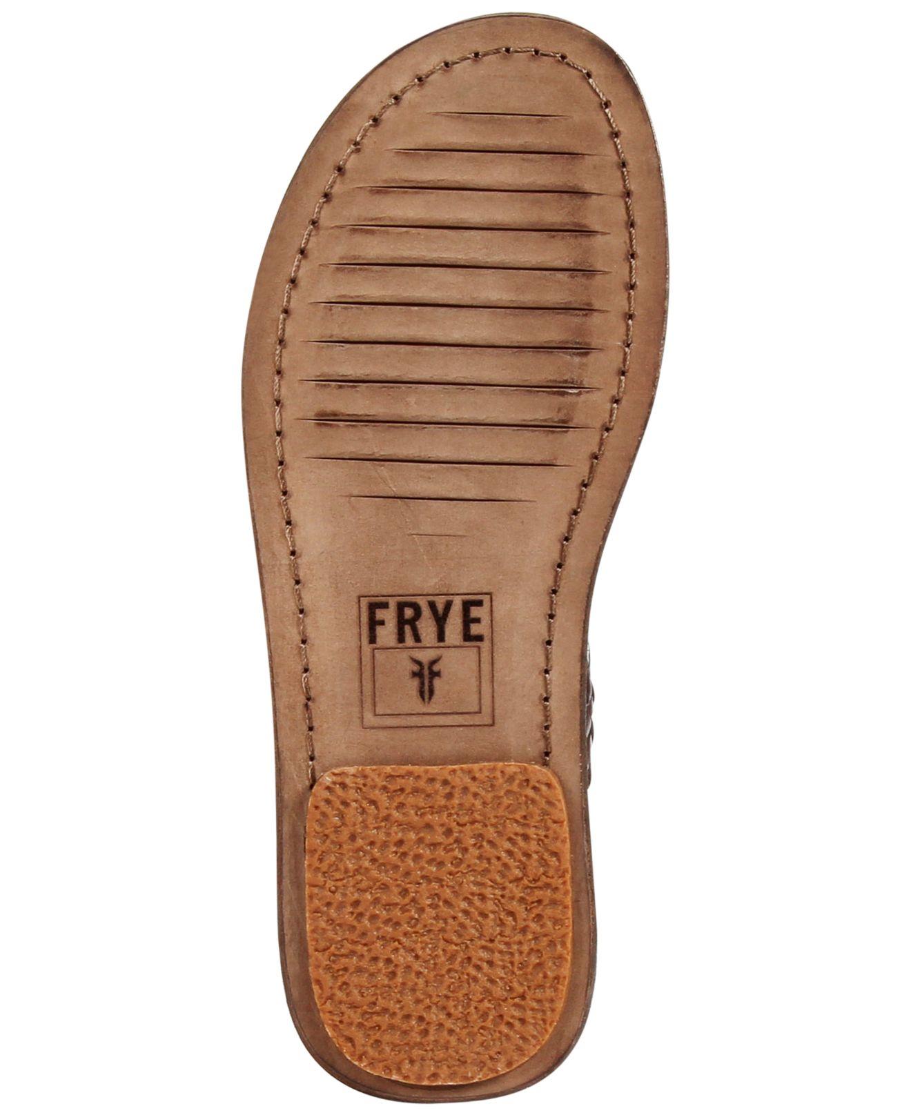 Frye Lawson Huarache Sandals In Dark Brown Brown For Men