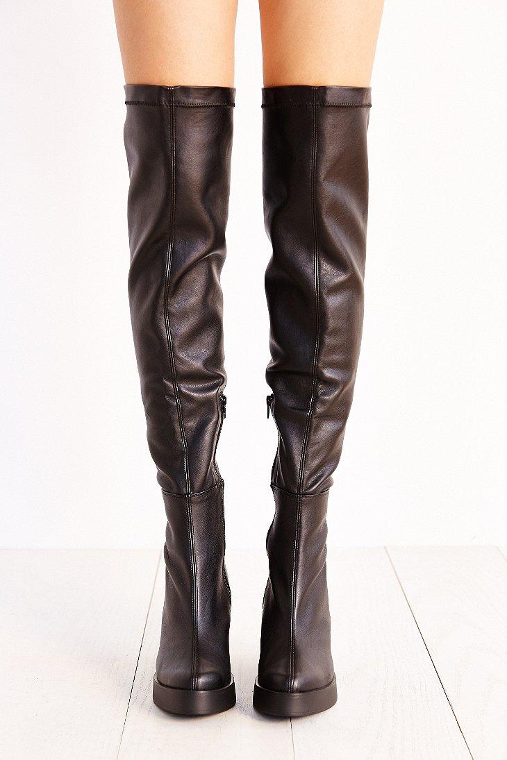 Miista Emi Over-The-Knee Platform Boot in Black | Lyst
