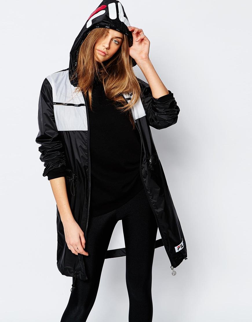 a3c97621fa7c Lyst - Fila Hooded Festival Parka Jacket in Black