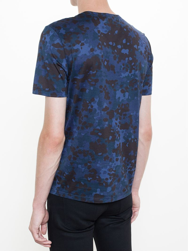 lyst burberry prorsum camouflage print t shirt in black. Black Bedroom Furniture Sets. Home Design Ideas