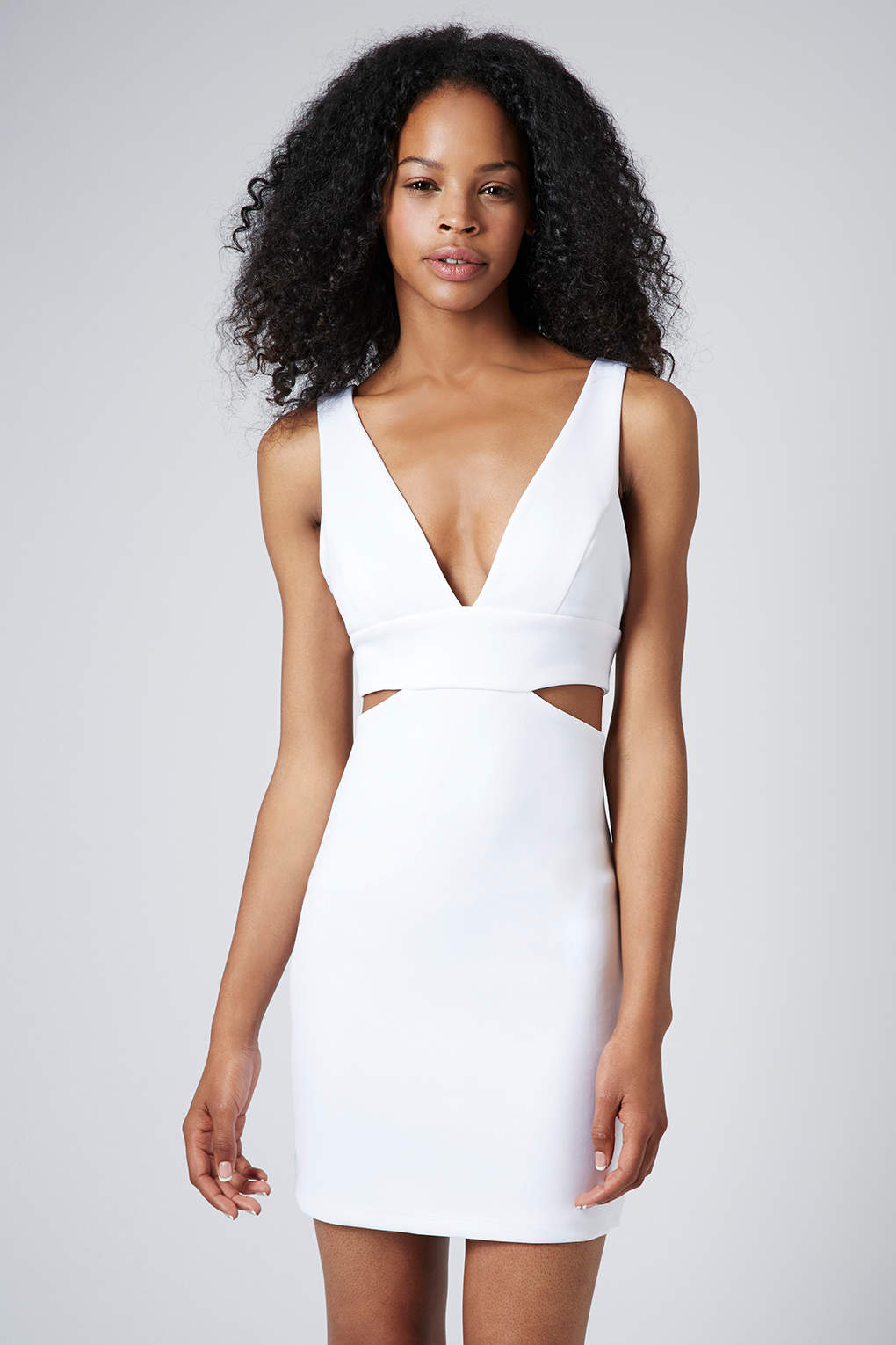 white bodycon cut out dress | Gommap Blog