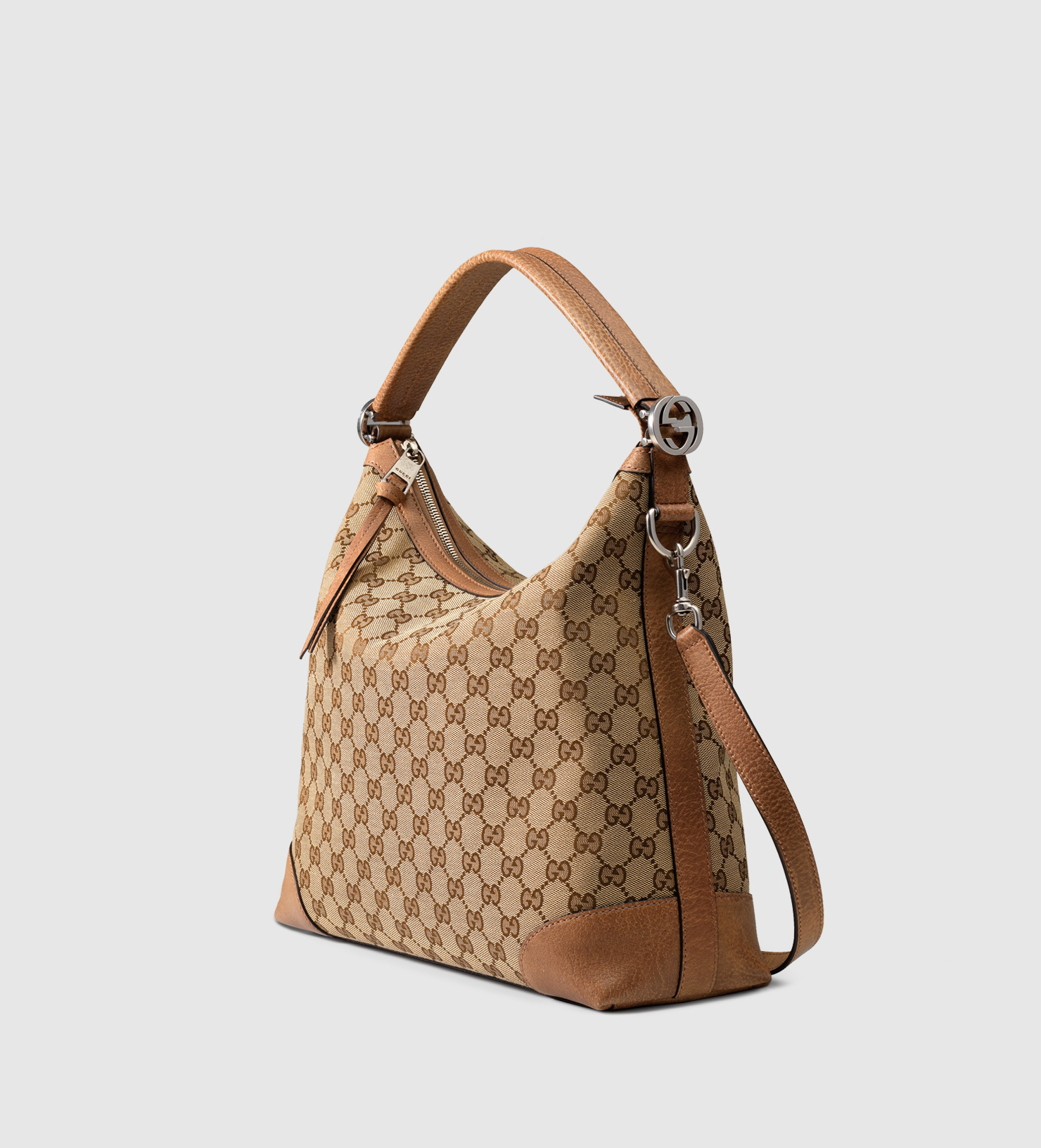 Gucci Miss Gg Original Gg Canvas Hobo in Brown | Lyst