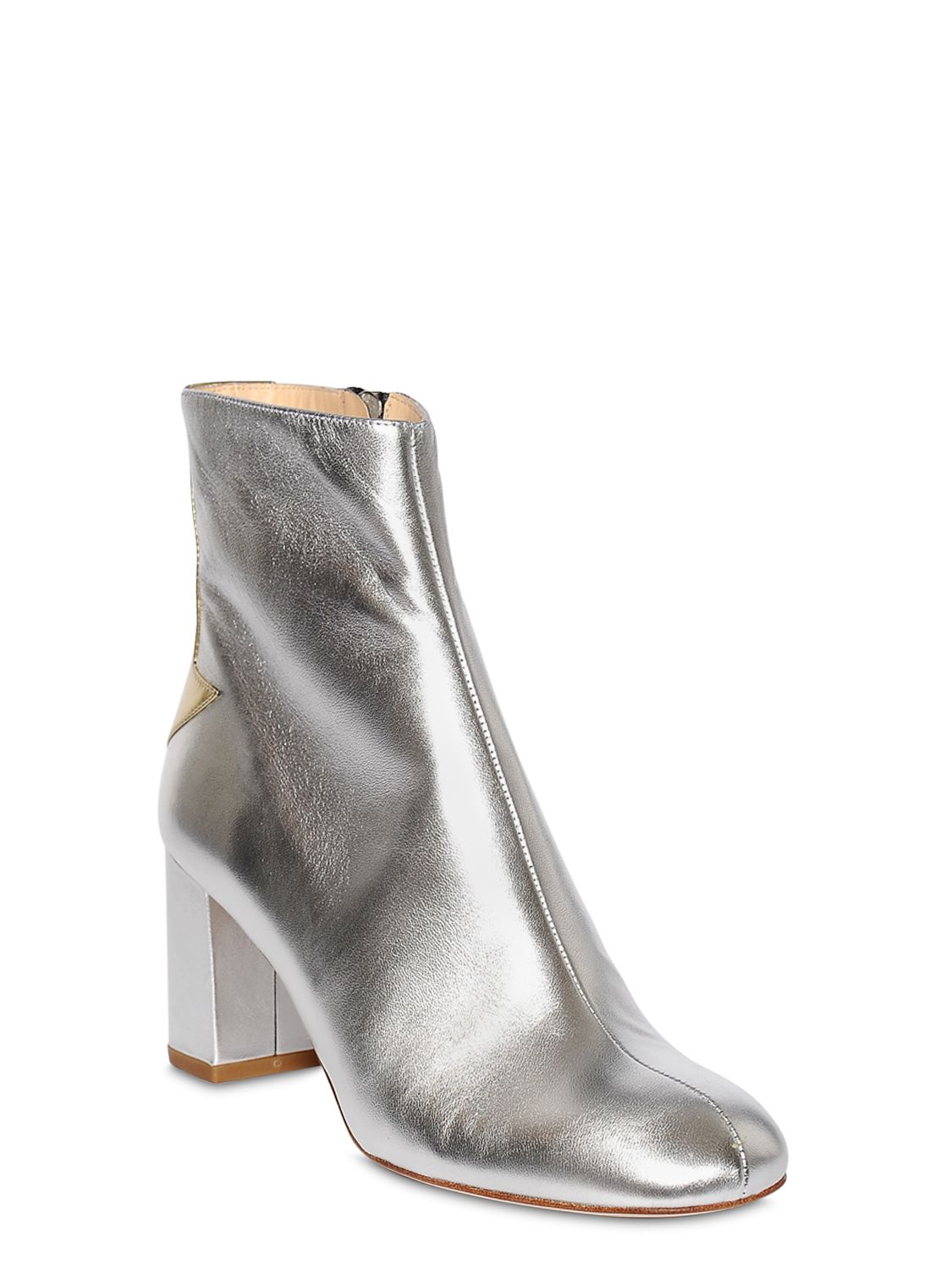 1e15024f6 Camilla Elphick 75mm Silver Lining Leather Boots in Metallic - Lyst