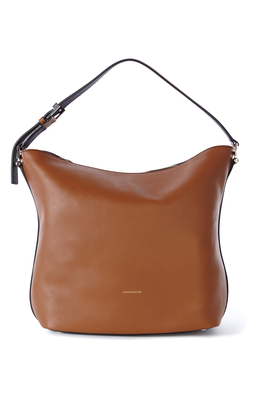 bbaec77fa9 Karen Millen Leather Colour-block Sling Bag - Lyst