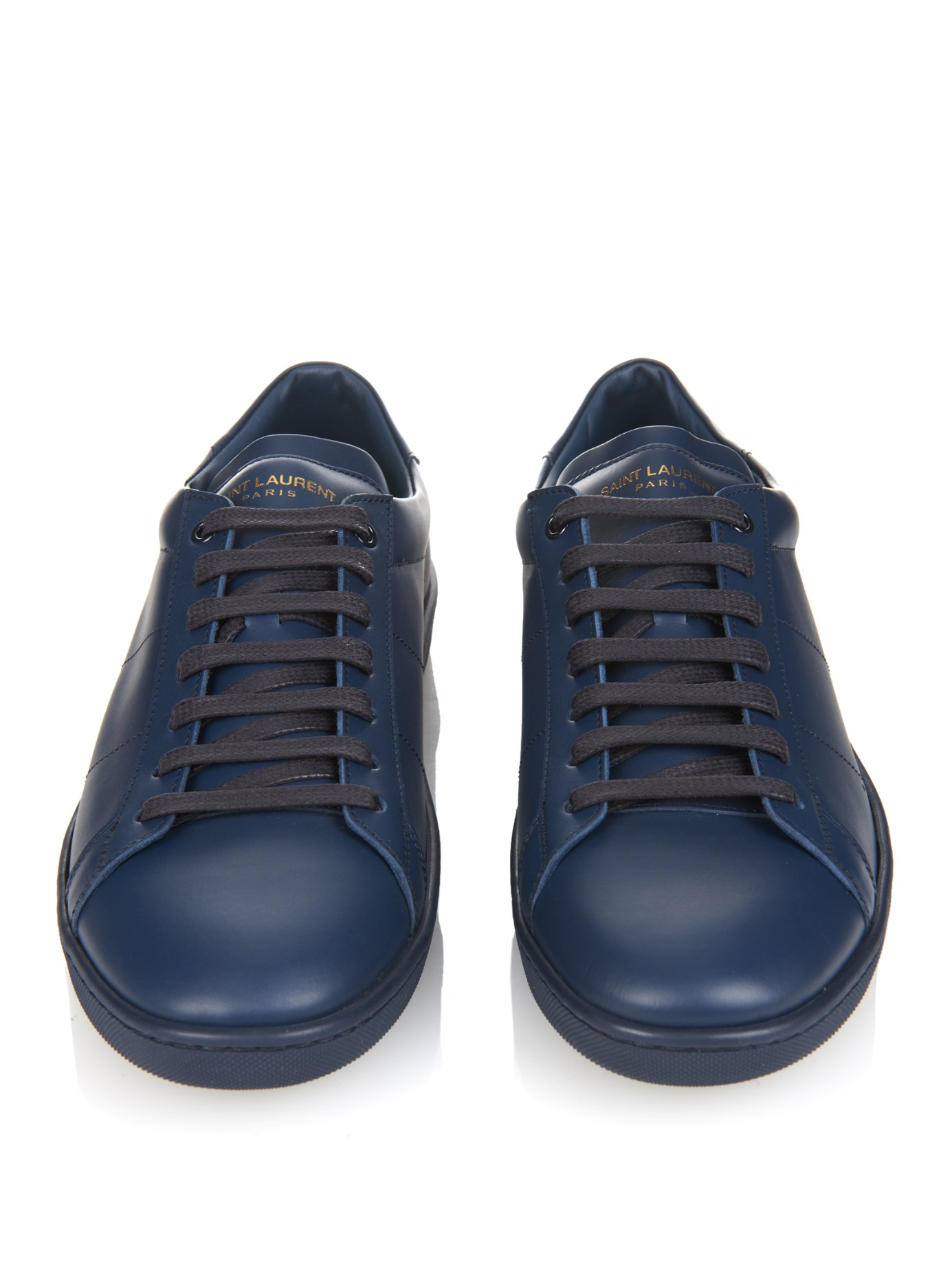 Online Shopping Saint Laurent Leather Trainers Clearance Buy Cheap Fast Delivery Nrdn5P