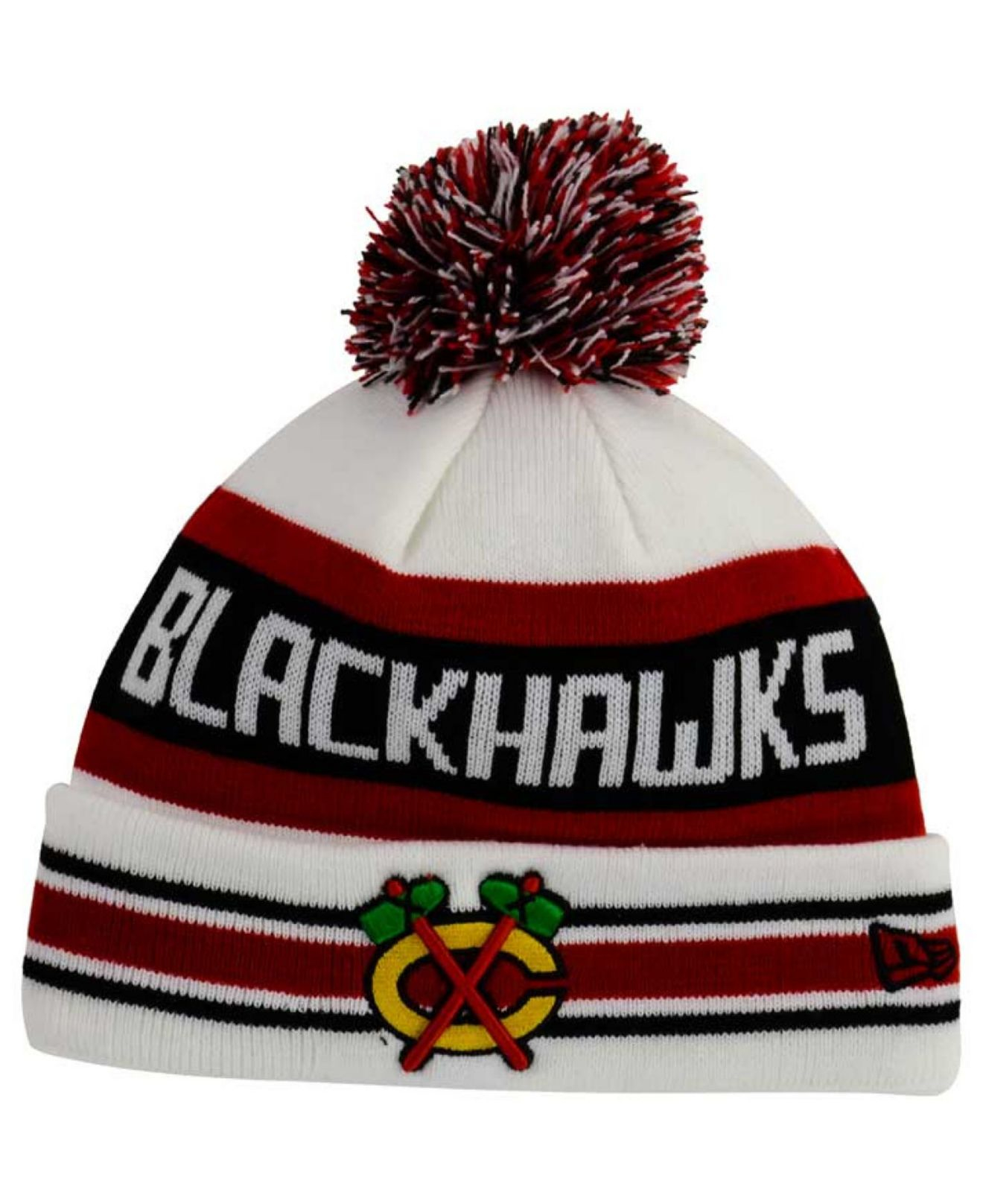 half off 9389e 15bcc ... good lyst ktz chicago blackhawks jake pom knit hat in natural for men  eab02 c1b89 ...