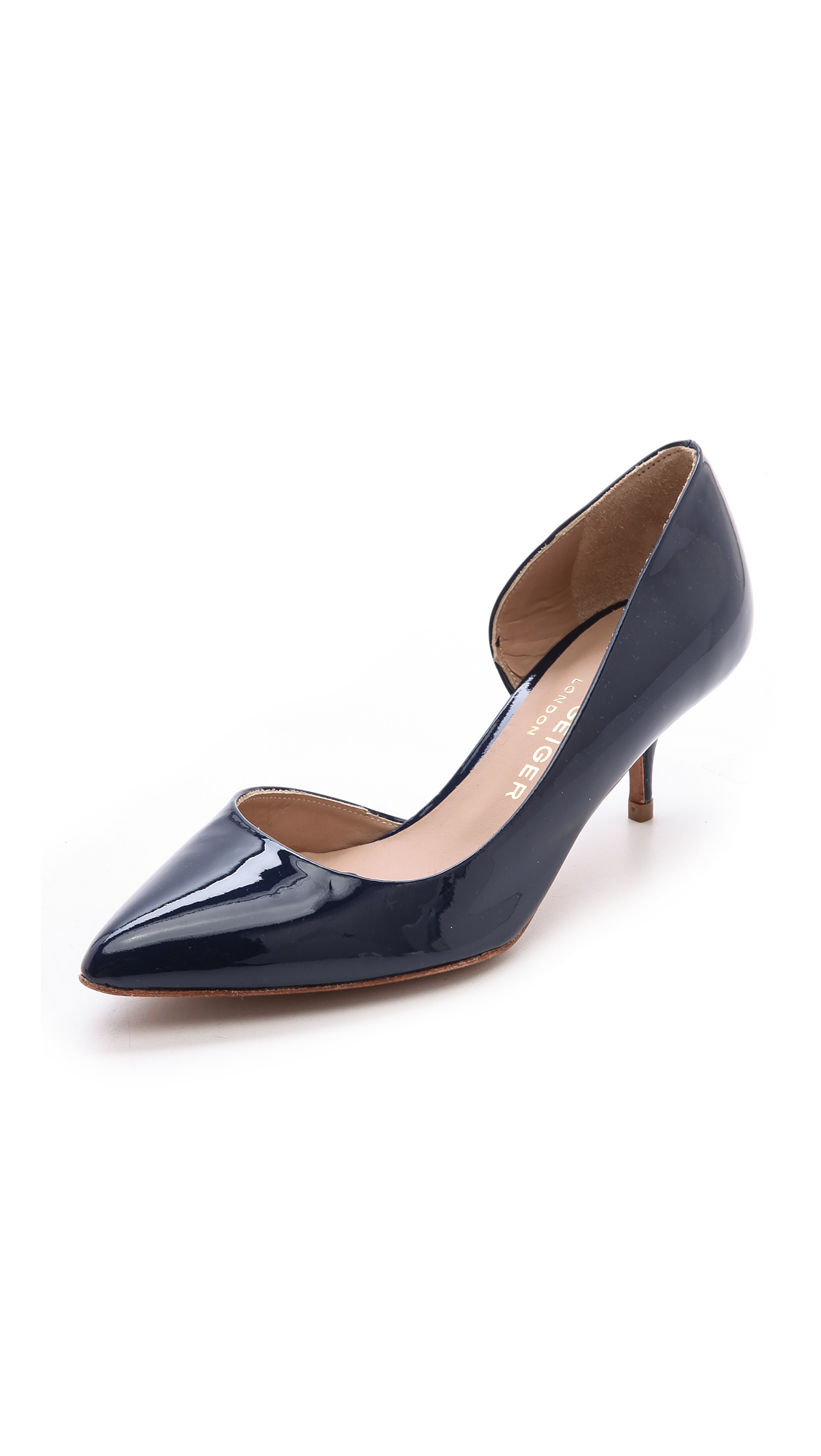 Kurt geiger Tilia Kitten Heel Pumps Navy in Blue | Lyst