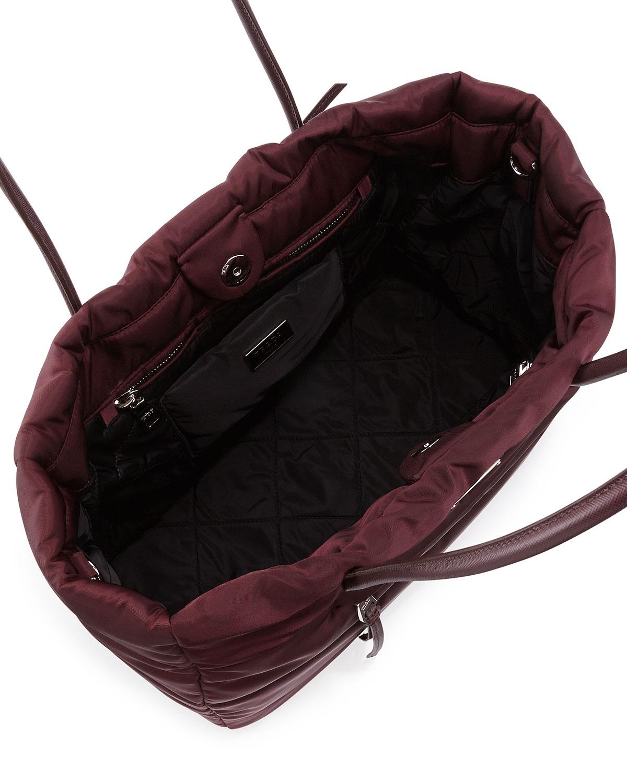 counterfeit prada - Prada Tessuto Bomber Tote Bag in Purple (Bordeaux (Granato)) | Lyst