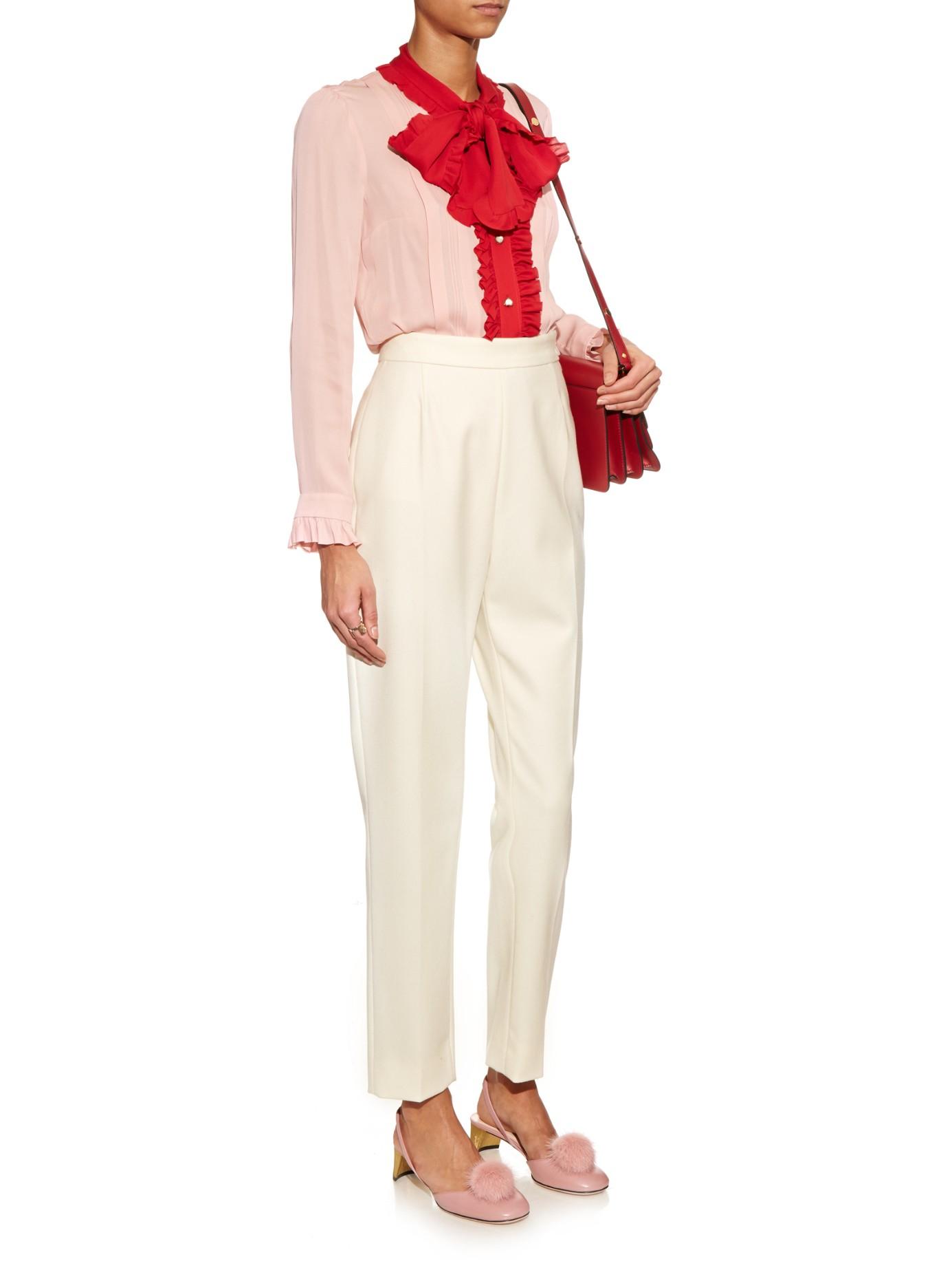 Lyst - Gucci Pompom Mink Fur Pumps in Pink
