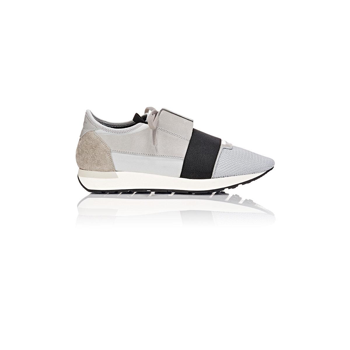 522ef3f6256d Lyst - Balenciaga Men s race Runner Sneakers in Gray for Men