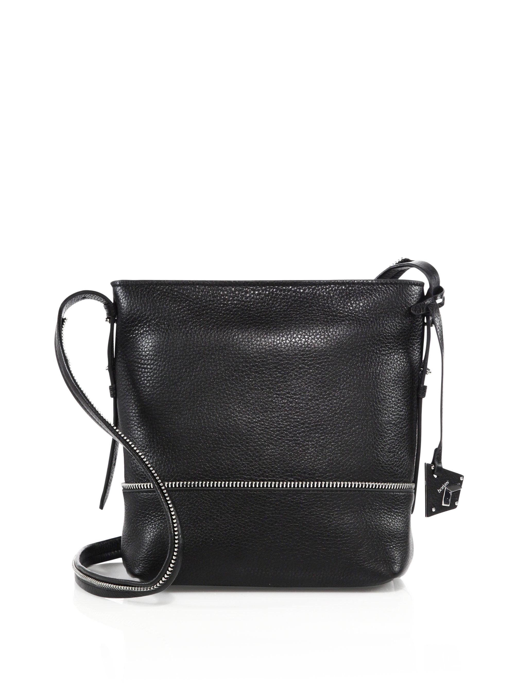 Botkier Soho Leather Crossbody Bag in Black