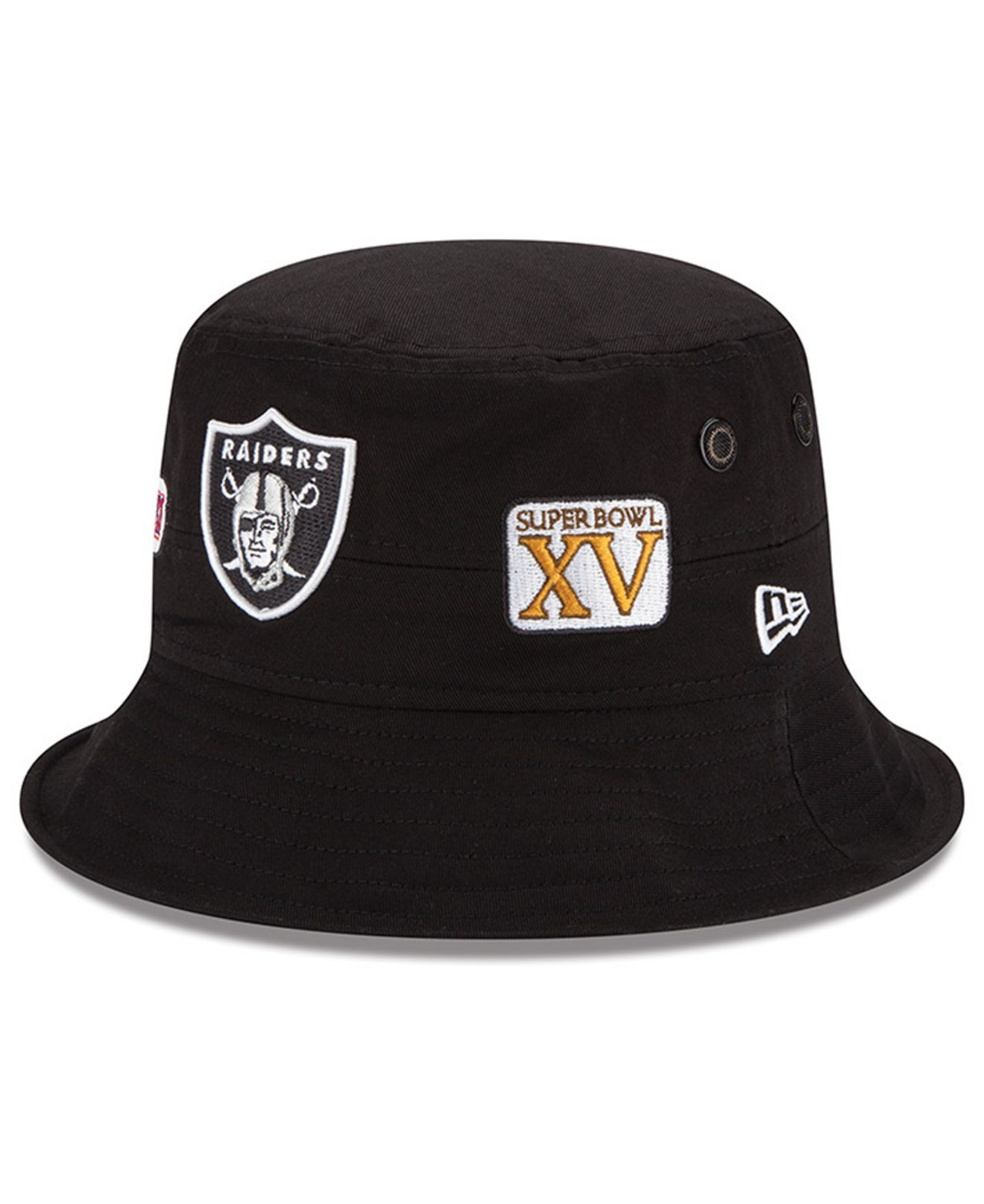 check out c97f9 8a485 ... spain lyst ktz oakland raiders multi super bowl champ bucket hat in  d78f2 3bf5c