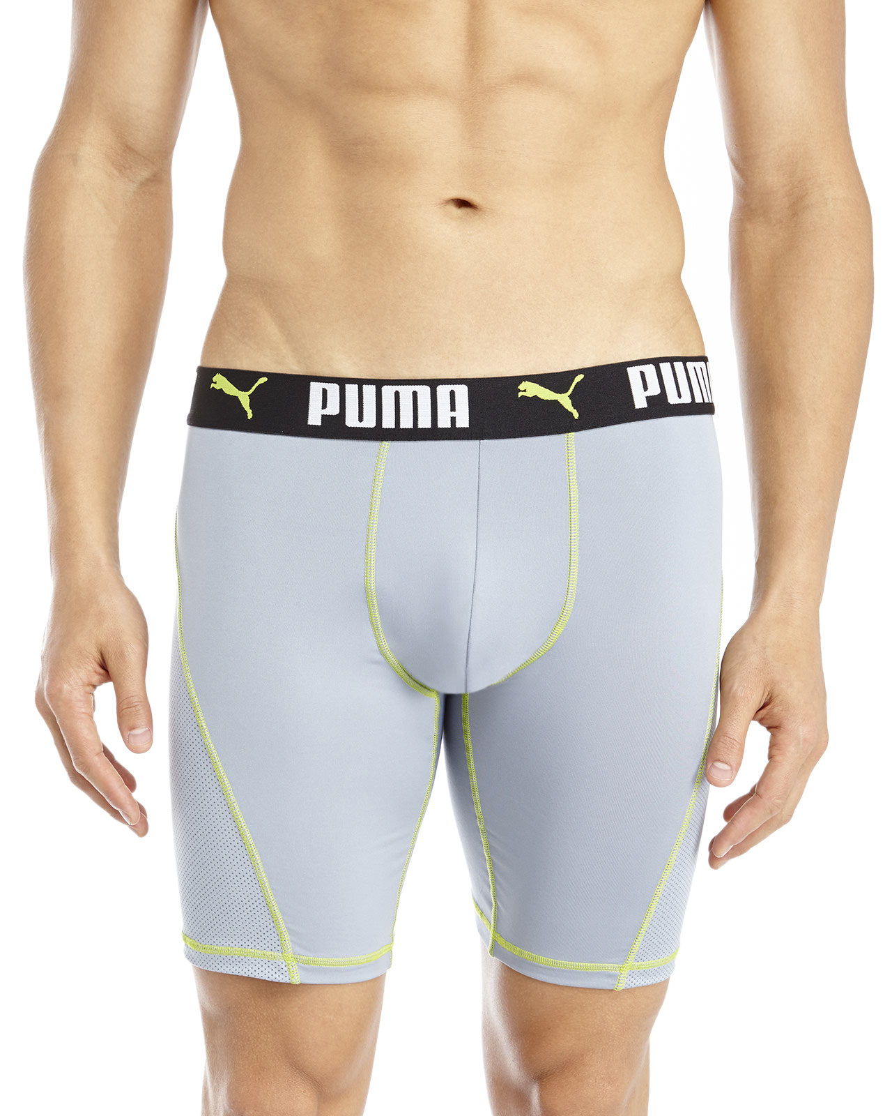 Puma Perforated Boxer Briefs in Gray for Men