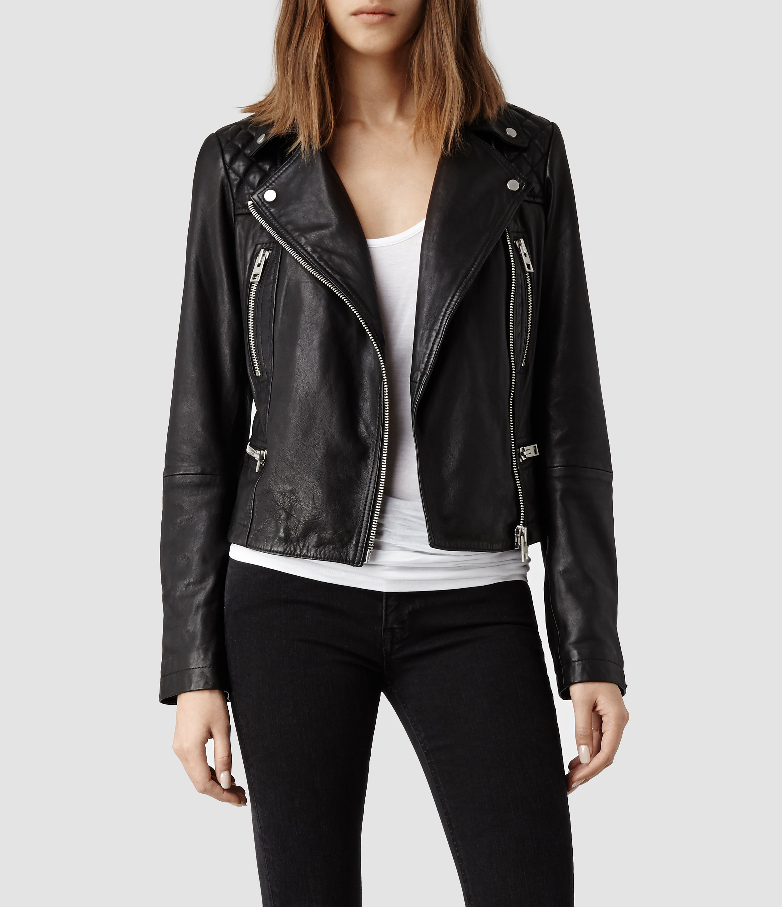 All saints leather jackets women