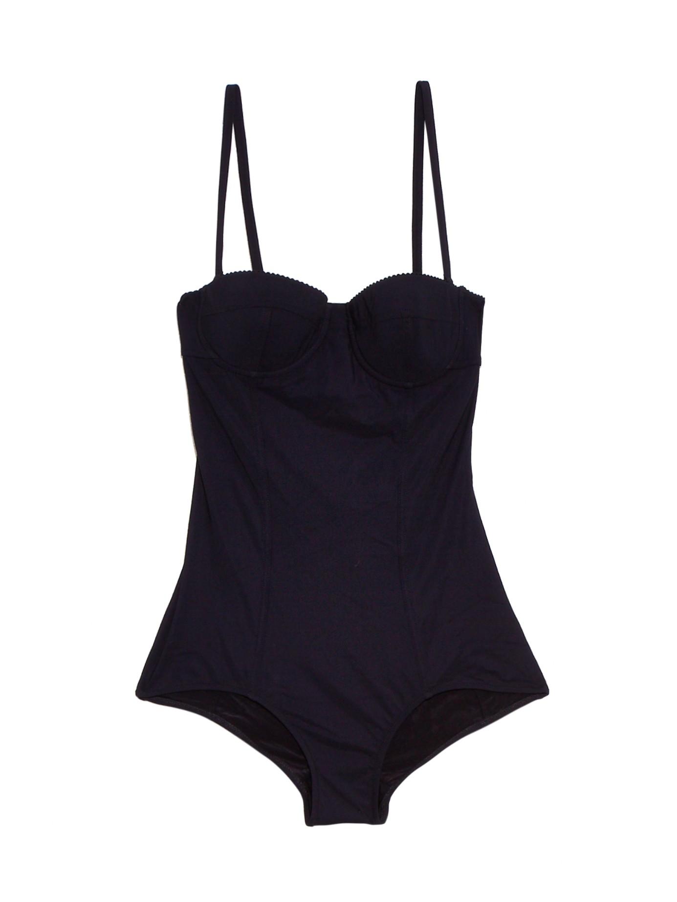 d85595a0e5 Lyst - Dolce   Gabbana Balconette Swimsuit in Black