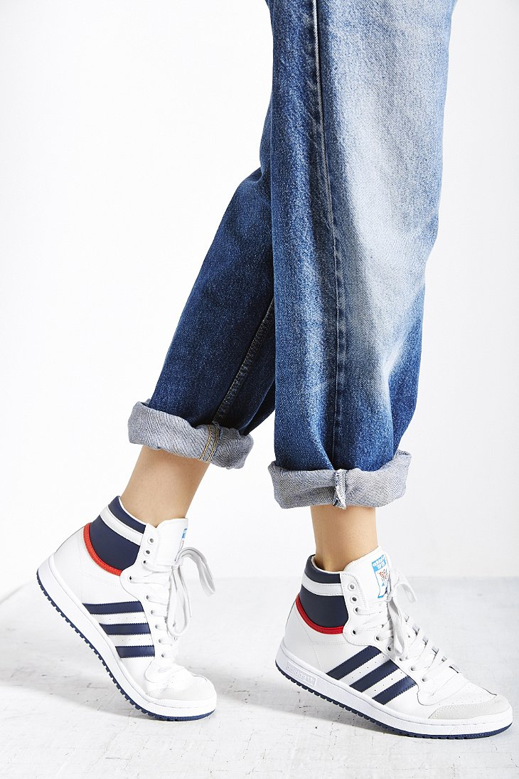 Fashion style High Adidas top sneakers for lady