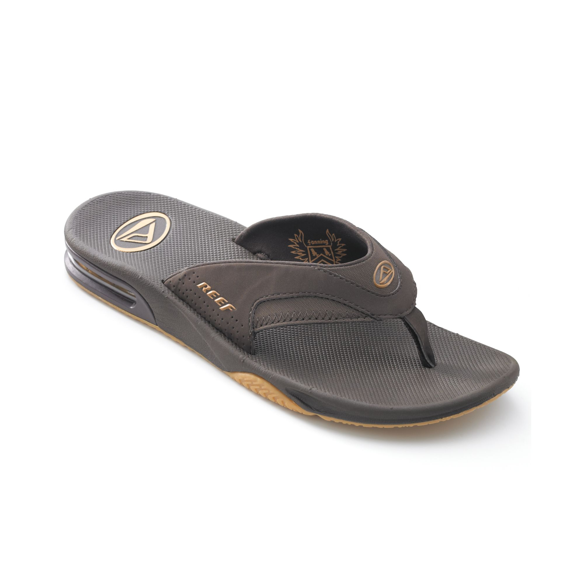 reef fanning thong sandals with bottle opener in brown for men brown gum lyst. Black Bedroom Furniture Sets. Home Design Ideas