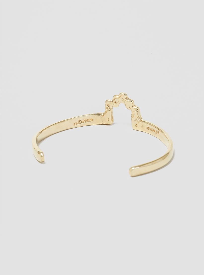 odette new york stepped cuff brass in metallic lyst