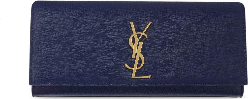 yves saint laurent shoes cheap - Saint laurent Monogrammed Leather Clutch in Black | Lyst