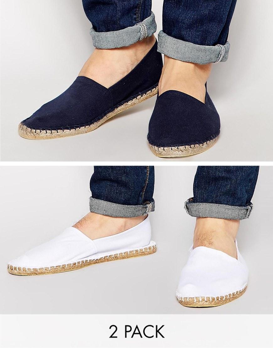 Buy Men Shoes / Asos Canvas Espadrilles In 2-pack