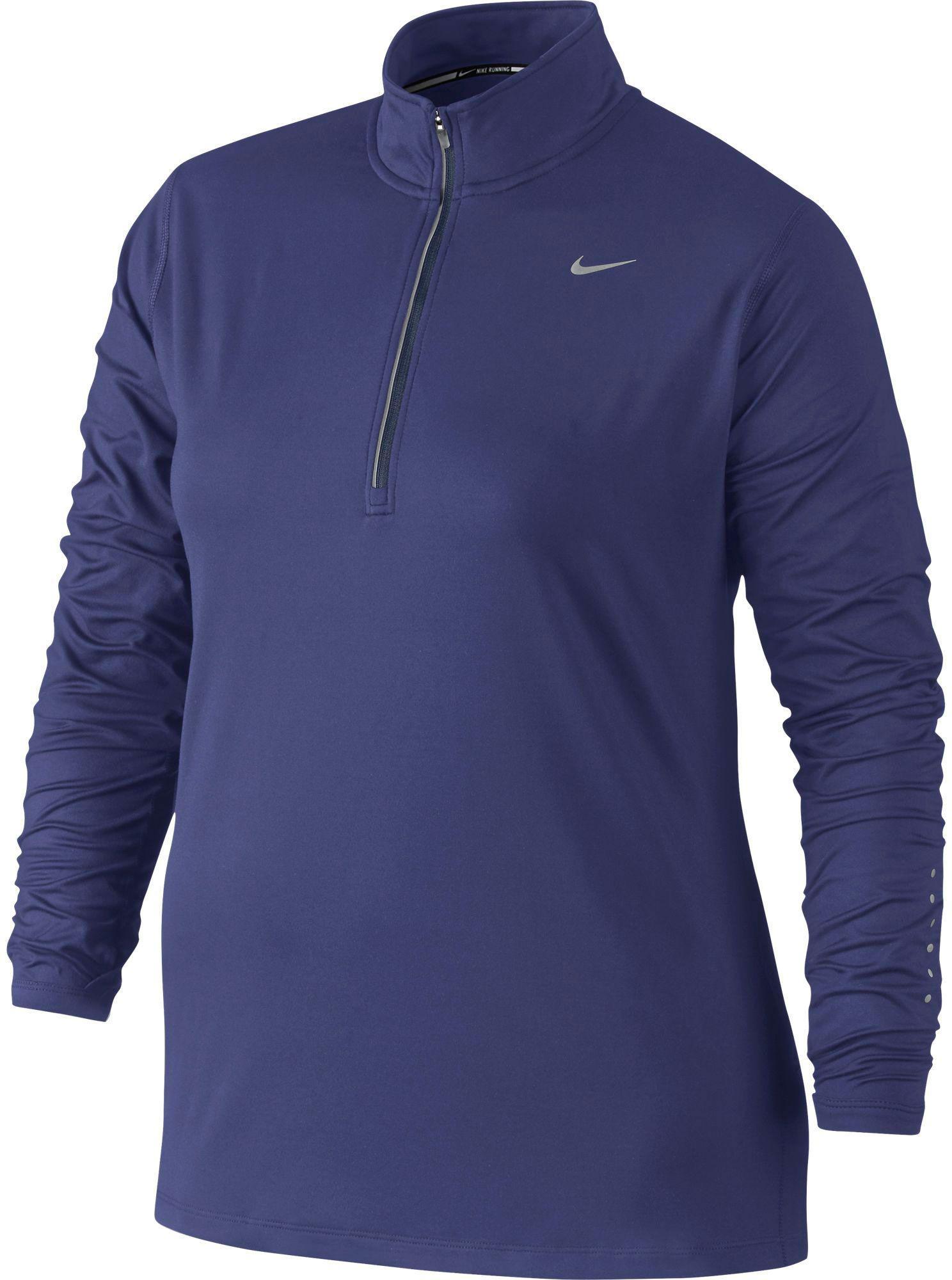 e404d213539 Nike - Purple Plus Size Element Half Zip Long Sleeve Running Shirt for Men  - Lyst