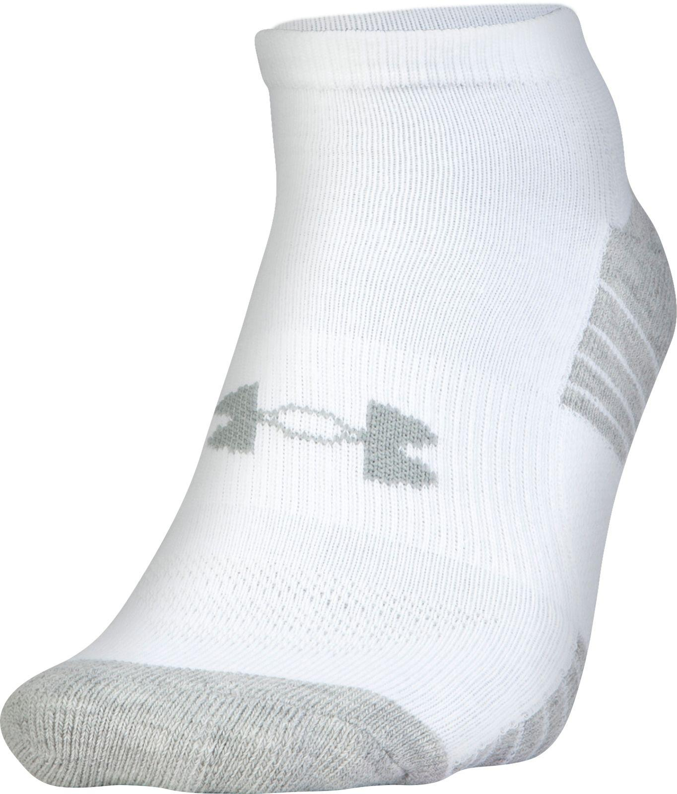 7fde83ddd Under Armour - White Heatgear Tech No-show Golf Socks - 3 Pack for Men.  View fullscreen