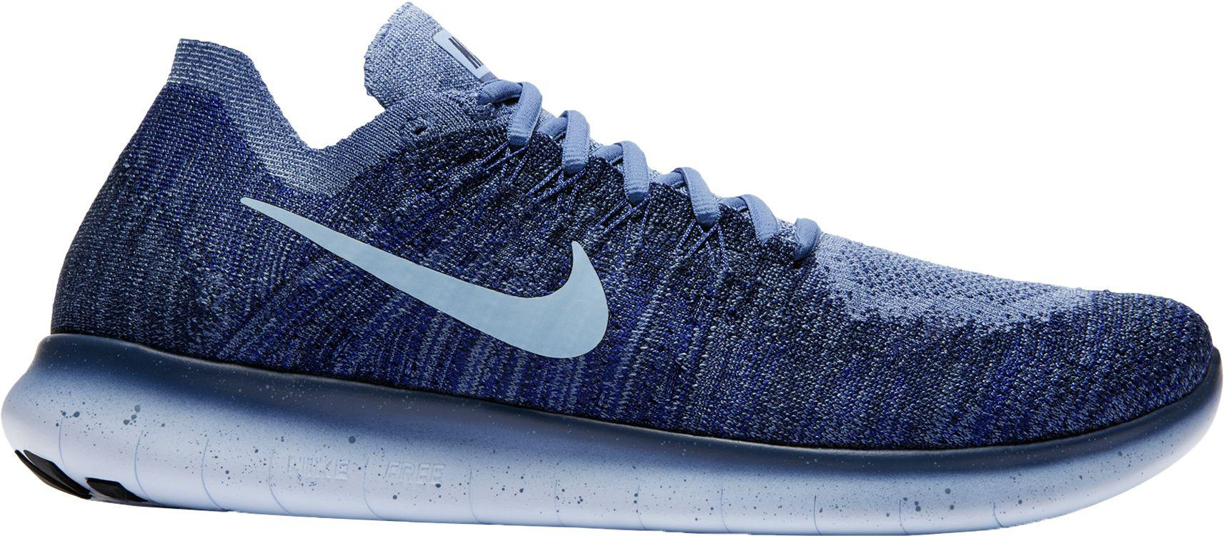 reputable site 52614 099db Nike - Blue Free Rn Flyknit 2017 Running Shoes for Men - Lyst