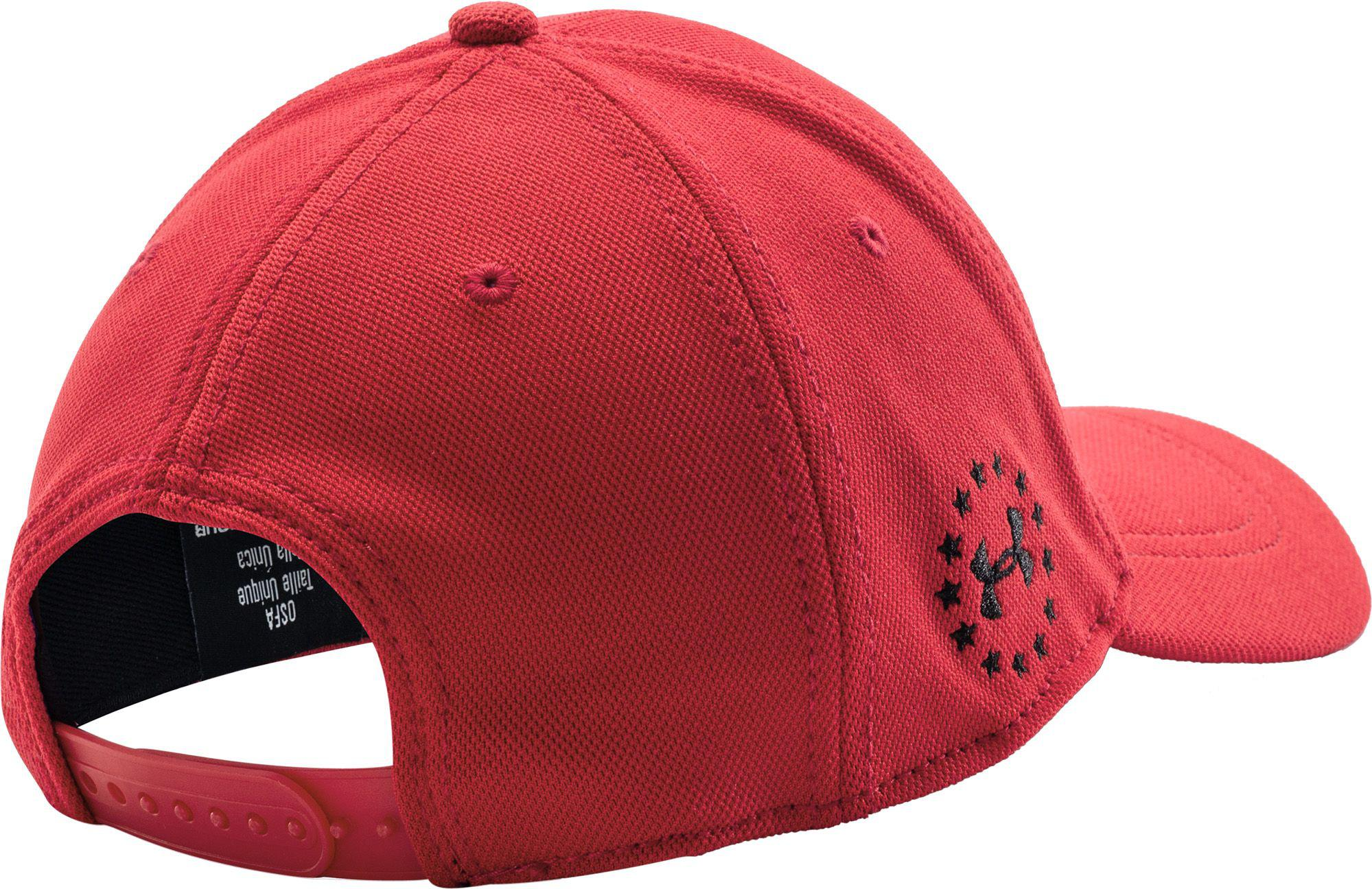 d69c2d6ca3c Lyst - Under Armour Wounded Warrior Project Snapback Hat in Red for Men