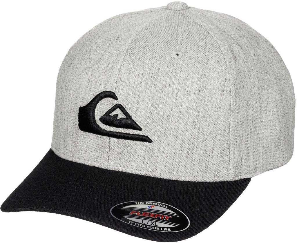 the latest b263f 8e435 ... sweden quiksilver. mens gray mountain and wave flexfit hat b9233 34c39