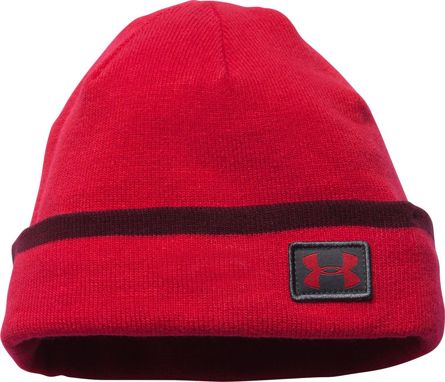 Lyst - Under Armour Cuff Sideline Beanie in Red for Men 246eba1326a5