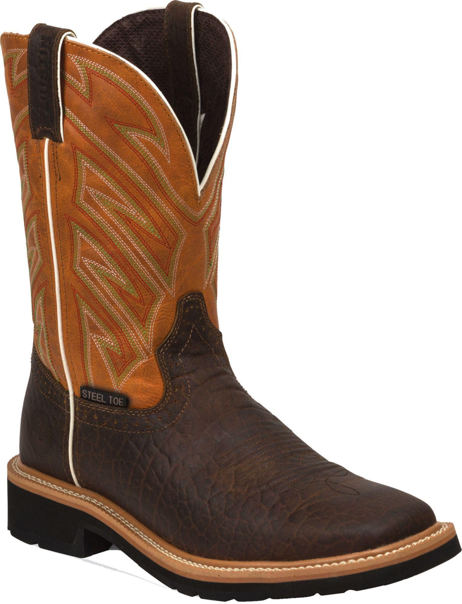 94d2039fb40 Lyst - Justin Boots Justin Stampede Steel Toe Work Boots in Brown