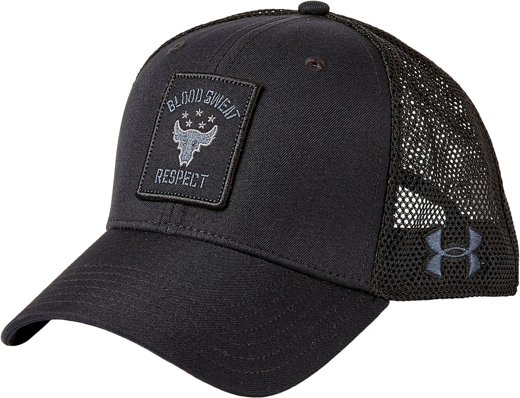 ec0b977c5292f ... canada lyst under armour project rock trucker hat in black for men  f1856 6e874