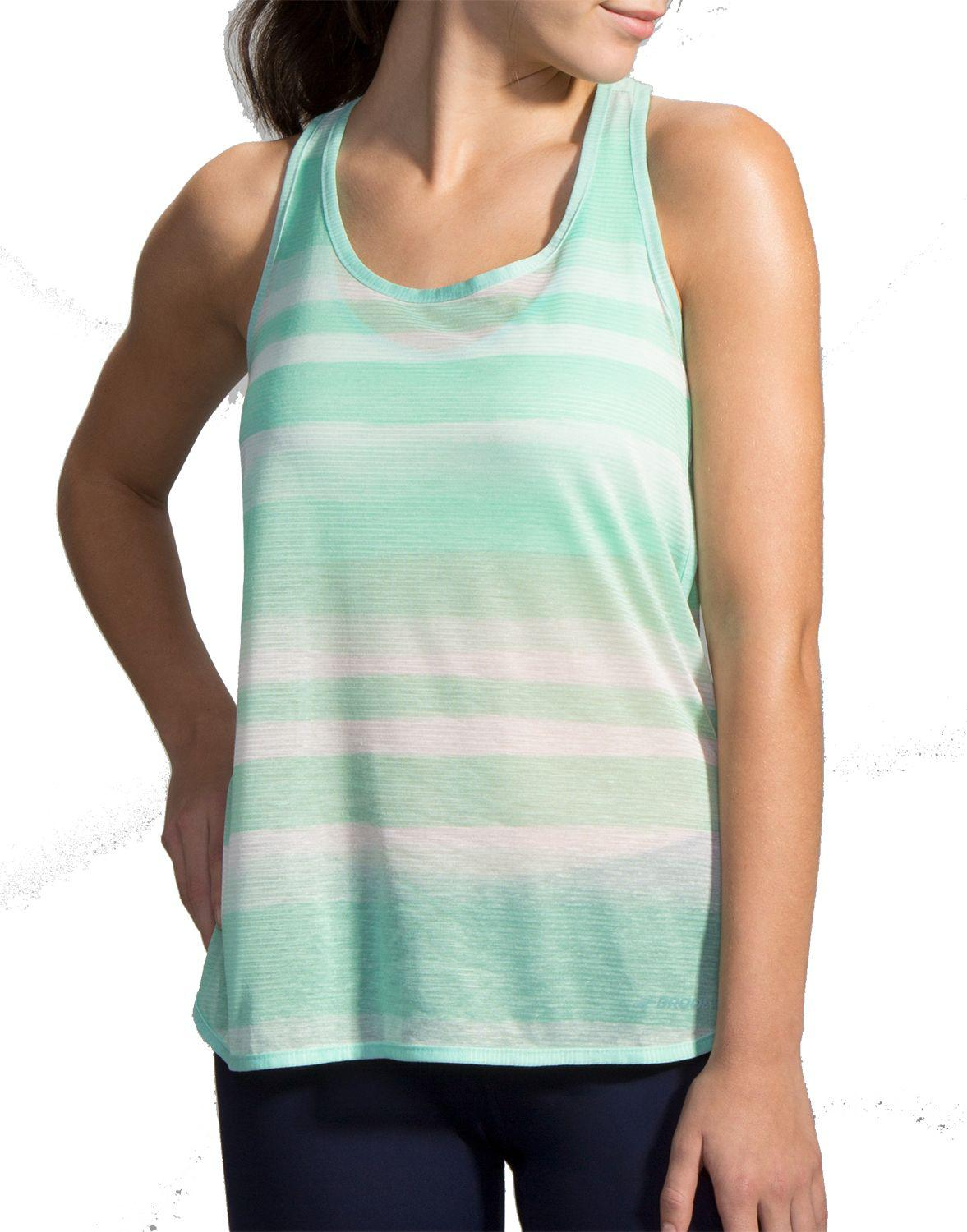 083505fd070577 Lyst - Brooks Ghost Racerback Running Tank Top in Green