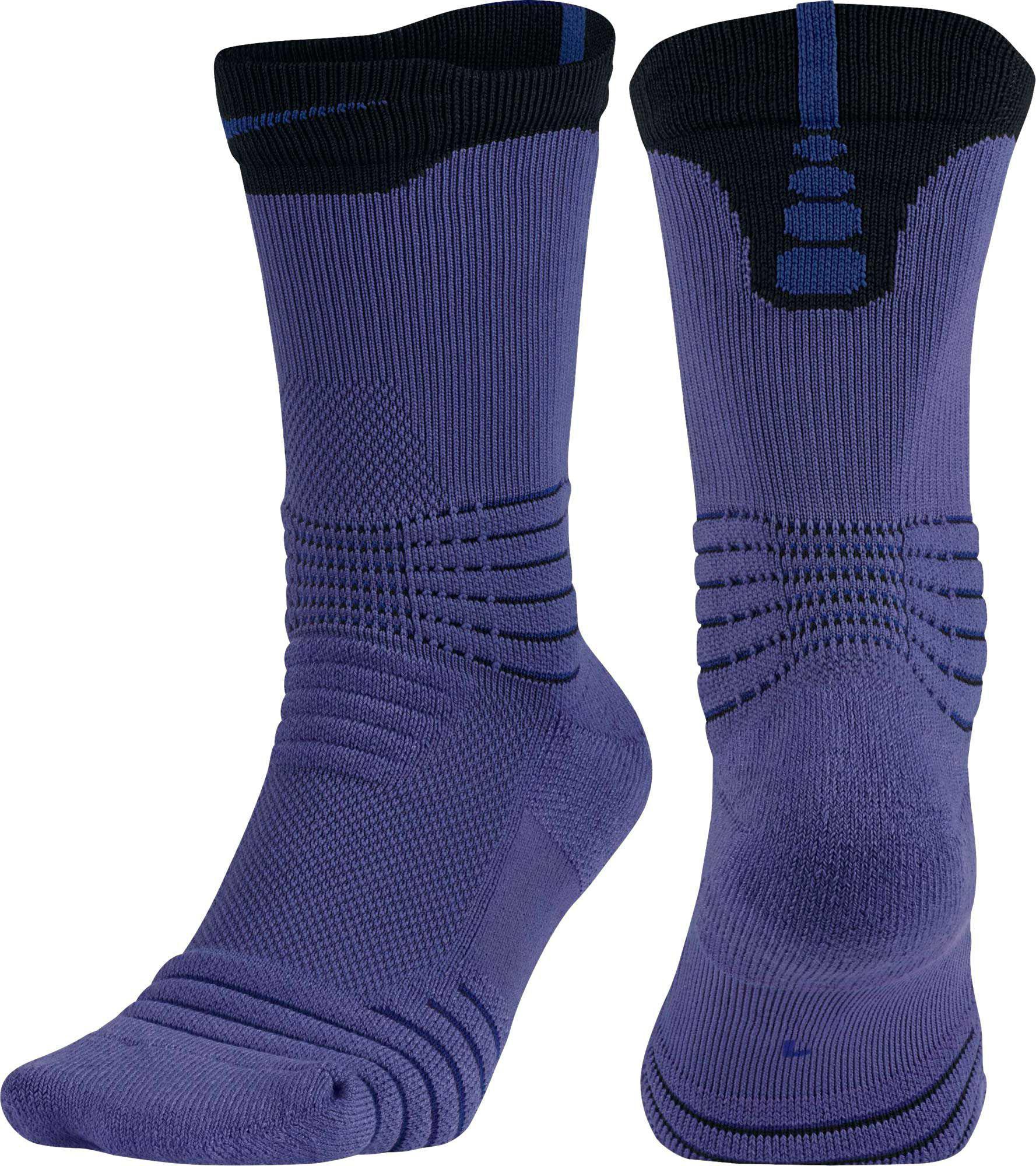 9a991b85708 Lyst - Nike Elite Versatility Crew Basketball Socks in Purple for Men