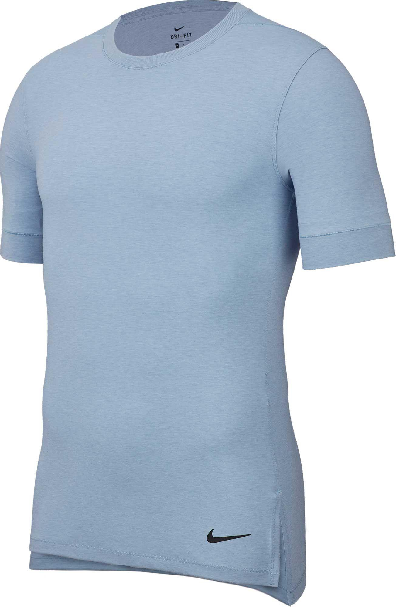 d2cc31c5ac0 Lyst - Nike Dry Transcend Training Tee in Blue for Men