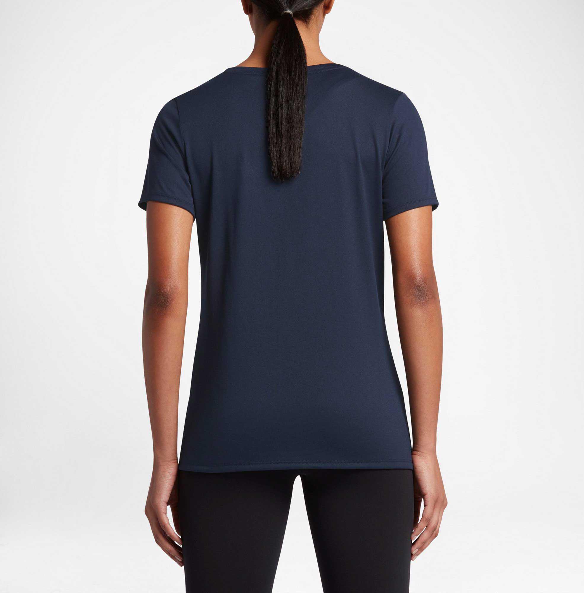 e6c735337c55 Nike - Blue Woman s Dry Legend Training T-shirt - Lyst. View fullscreen