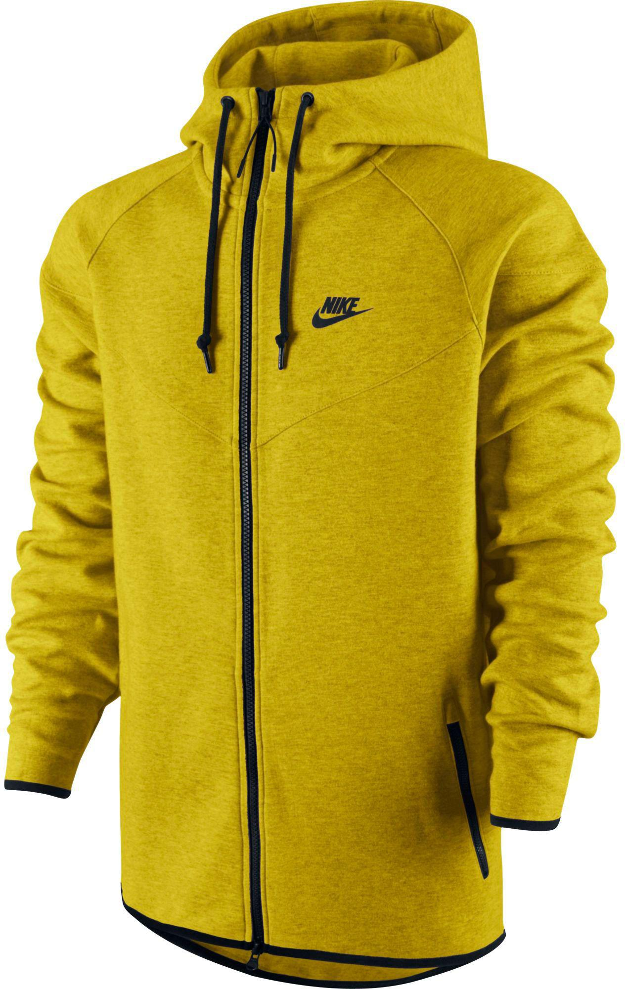 ff7b8ad7d406 Lyst - Nike Tech Fleece Windrunner Full Zip Running Jacket in Yellow ...