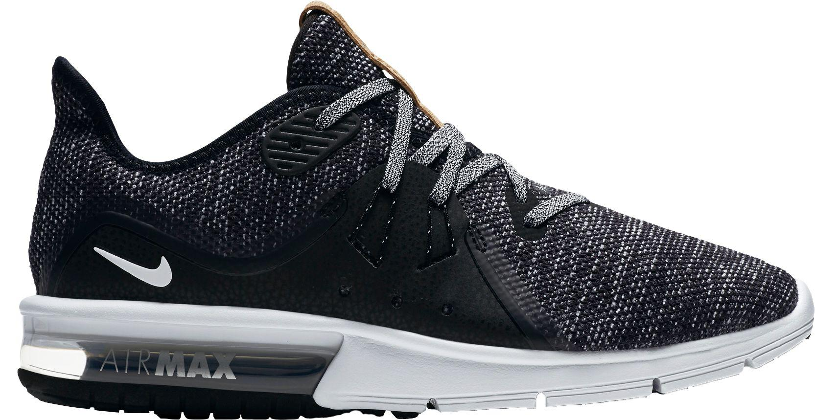 Lyst Nike Air Max Sequent 3 Running Shoes in Black