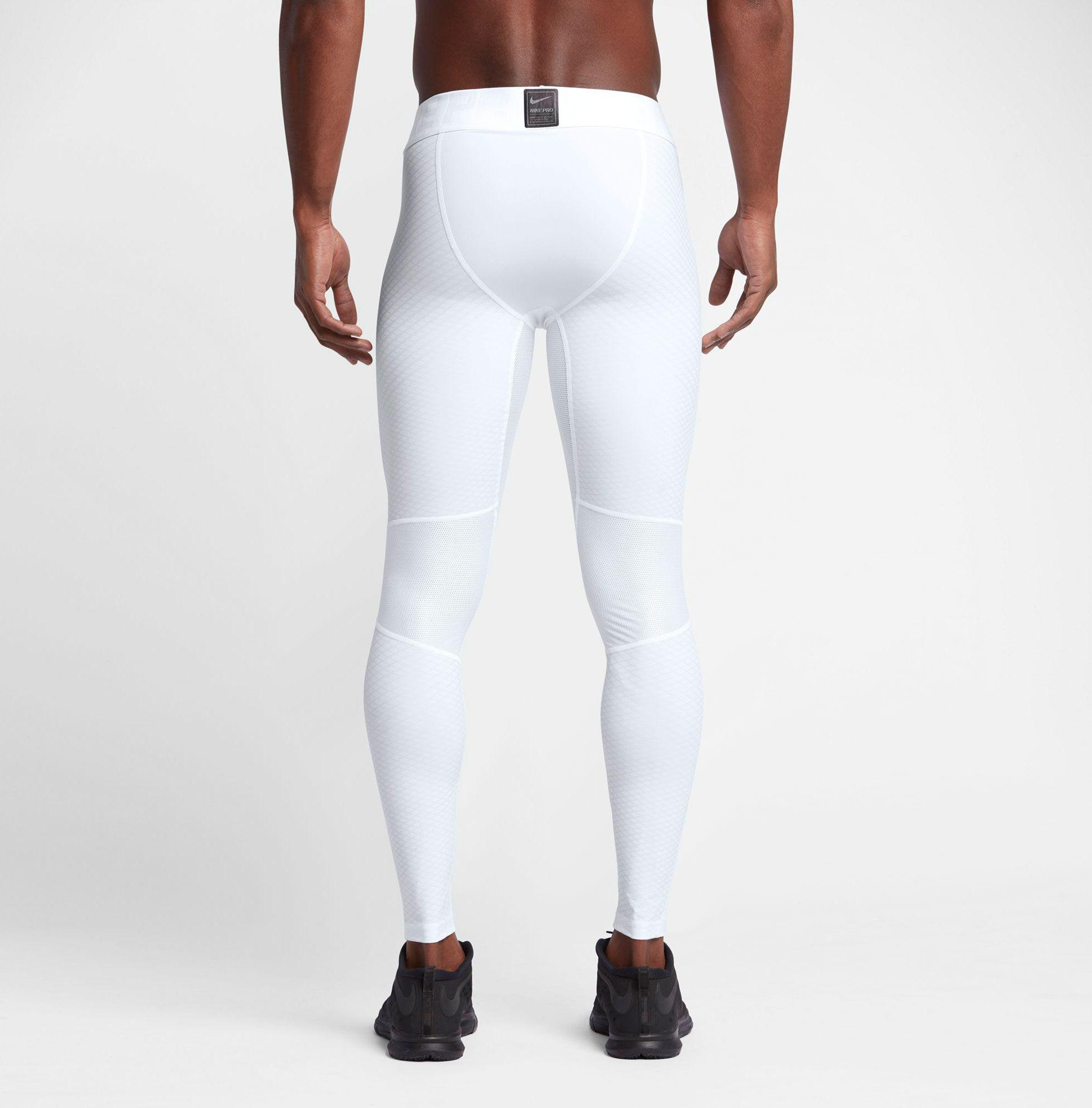 b7609decd5 Nike Pro Zonal Strength Hyper Compression Tights in White for Men - Lyst