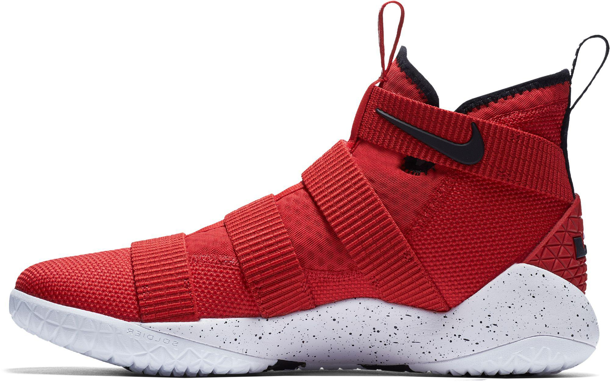 save off 6f75a cae09 Nike - Red Zoom Lebron Soldier Xi Basketball Shoes for Men - Lyst